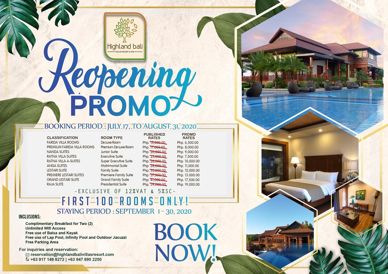 Reopening Promo Highland Bali Villas Resort Spa